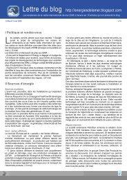 Lettre du blog http://energiesdelamer.blogspot.com