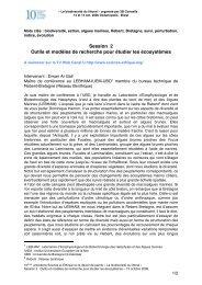 Session 2 Outils et modèles de recherche pour étudier les ...