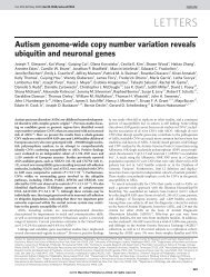 Autism genome-wide copy number variation reveals ubiquitin and ...
