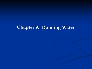 Chapter 9: Running Water