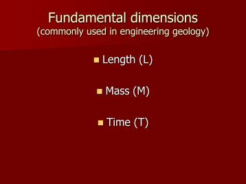 Fundamental dimensions