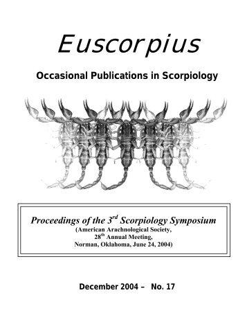 Euscorpius - College of Science - Marshall University