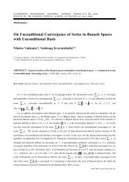 On Unconditional Convergence of Series in Banach Spaces with ...