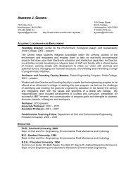 Curriculum Vitae (pdf) - Clark Science Center - Smith College