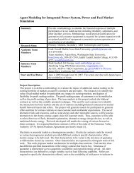Agent Modeling for Integrated Power System, Power ... - Smith College