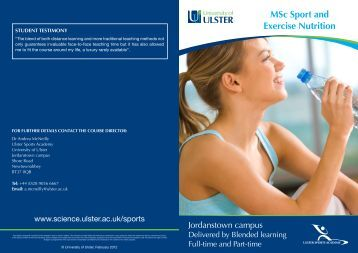 MSc Sport and Exercise Nutrition - Faculty of Life and Health ...