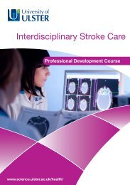 Interdisciplinary Stroke Care - Faculty of Life and Health Sciences ...