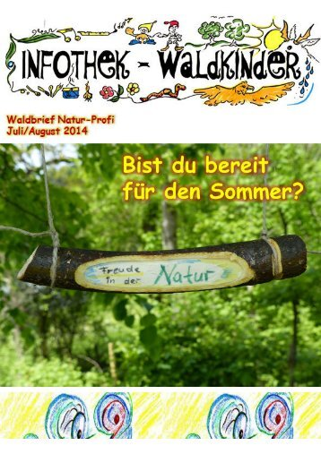Infothek Waldkinder - Blick in den Waldbrief Juli/August