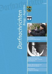 Dorfnachrichten Dezember '08  (pdf 3Mb) - Gemeinde Brügg