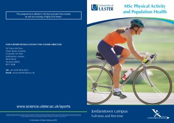 MSc Physical Activity and Population Health - University of Ulster