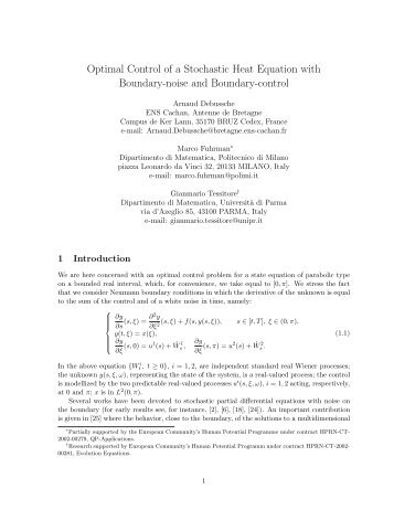 Optimal Control of a Stochastic Heat Equation with Boundary-noise ...