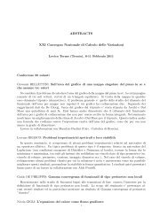 ABSTRACTS XXI Convegno Nazionale di Calcolo delle Variazioni
