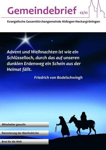 Gemeindebrief 12/11 - Evangelische Kirchengemeinde Aldingen am ...