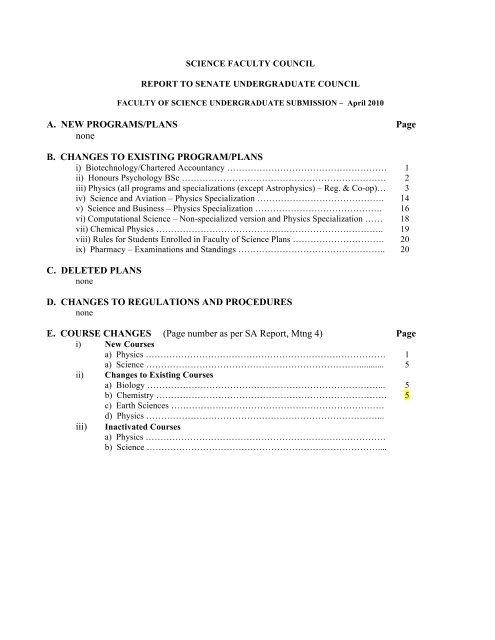 04 Senate ugrad Apri   - Faculty of Science - University of