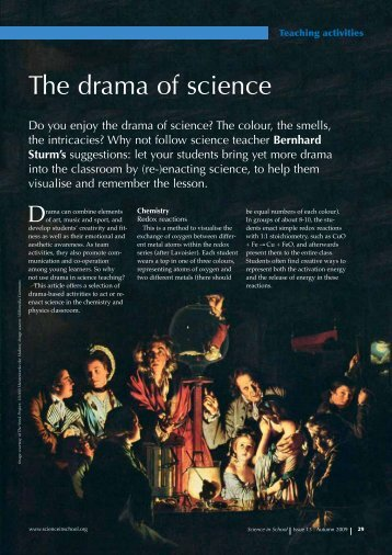 The drama of science - Science in School