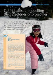 modelling the trajectories of projectiles - Science in School