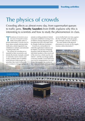 The physics of crowds - Science in School