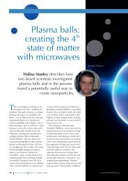 Plasma balls: creating the 4 state of matter with ... - Science in School