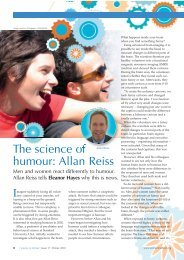 The science of humour: Allan Reiss - Science in School