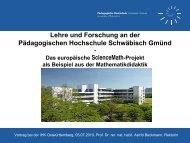 Mathematik - Science Math - Pädagogische Hochschule ...