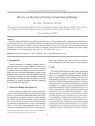 Review on thyroid carcinoma of molecular pathology - Life Science ...