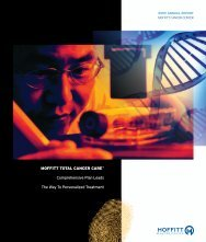 Annual Report – 2009 - Moffitt Cancer Center