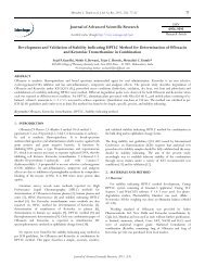 Development and Validation of Stability Indicating ... - Sciensage.info