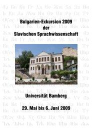 Bulgarienexkursion 2009, Layout 1 - Kodeks - Universität Bamberg