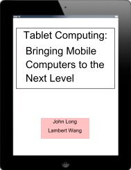 Tablet Computing - the Scientia Review