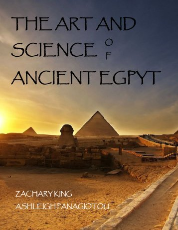 The Art and Science of Ancient Egypt - the Scientia Review