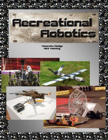 Recreational Robotics - the Scientia Review