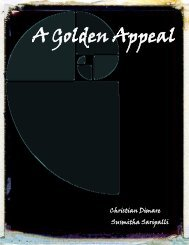A Golden Appeal - the Scientia Review