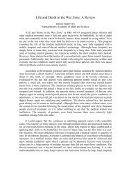 Life and Death in the War Zone: A Review - the Scientia Review