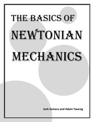 The Basics of Newtonian Mechanics - the Scientia Review