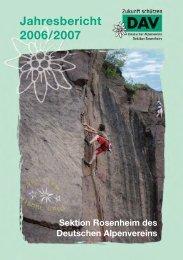 Jahresbericht 2006/2007 - Sektion Rosenheim