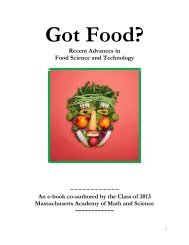 Got Food? - the Scientia Review