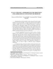 evaluation de la performance des processus ... - Scientific Bulletin