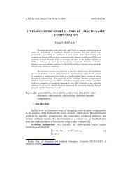 linear systems' stabilization by using dynamic ... - Scientific Bulletin