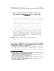 betanine extraction from beta vulgaris - Scientific Bulletin