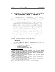 synthesis and characterization of conductive ... - Scientific Bulletin