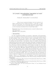 (FUZZY) ISOMORPHISM THEOREMS OF SOFT ... - Scientific Bulletin