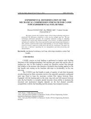 experimental determination of the mechanical ... - Scientific Bulletin