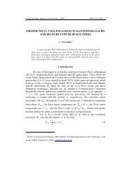 proper weyl collineations in kantowski-sachs and ... - Scientific Bulletin