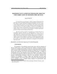 DISPERSION OF SU-8 PHOTOLITHOGRAPHY PROCESS FOR ...