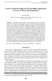 Can the Vacuum Be Engineered for Spaceflight Applications ...