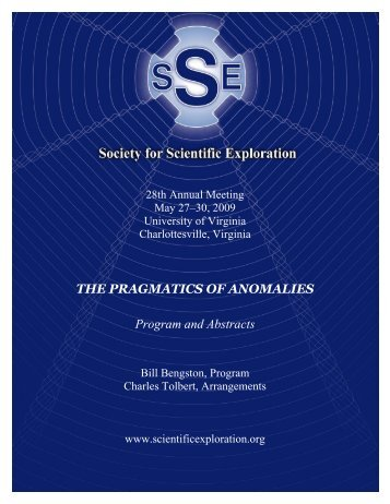 Program & Abstracts - Society for Scientific Exploration
