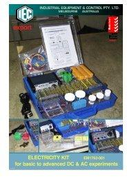 Electricity Kit Instruction Sheets - Scientrific Pty Ltd