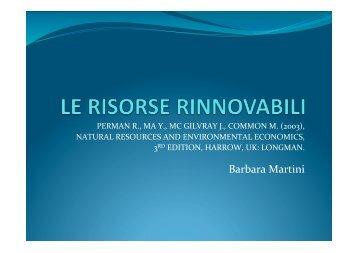 Risorse rinnovabile 1/a