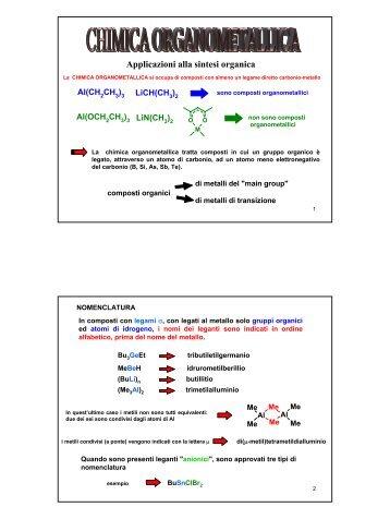 Applicazioni alla sintesi organica