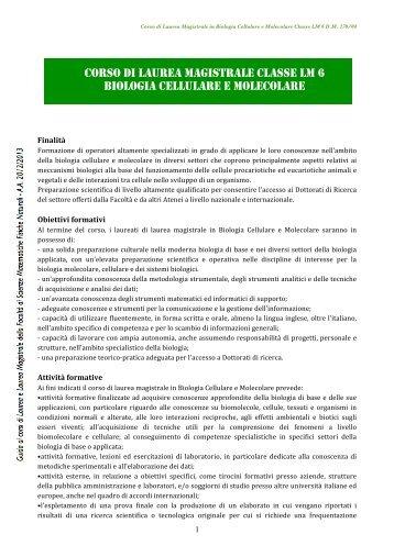 a.a. 2012-2013 - Macroarea di Scienze MFN